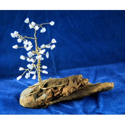 Blue Lace Agate Driftwood Tree