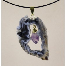 Geode Pendant with Amethyst