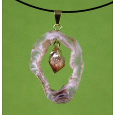 Geode Pendant with Citrine