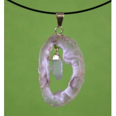 Geode Pendant with Quartz