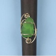 Beach Glass Green Ring