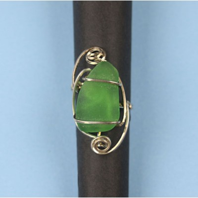 Beach Glass Ring in Sterling Silver