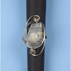 Beach Glass White Ring