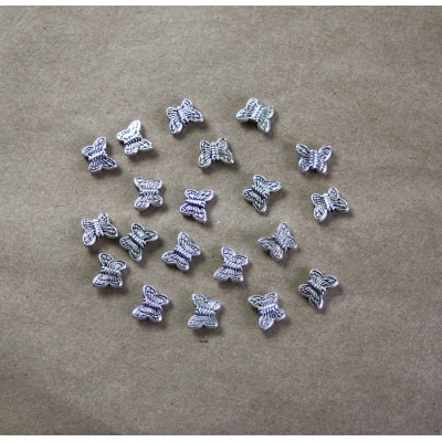 Pewter Butterfly Beads