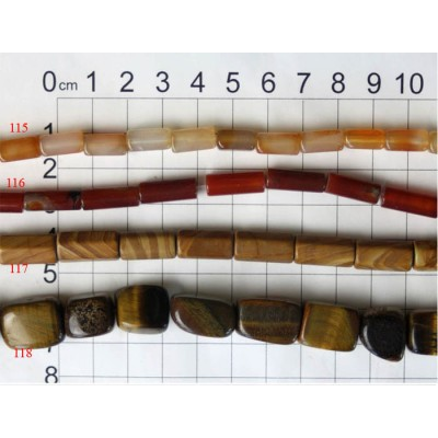 Gemstone Shaped Beads Strands 115 - 118