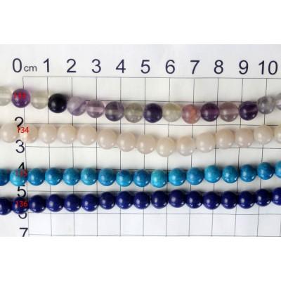 8mm Round Beads Strands 133 - 136