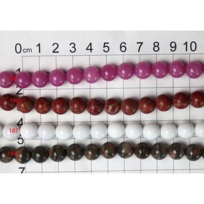 10mm Round Beads Strands 185 - 188