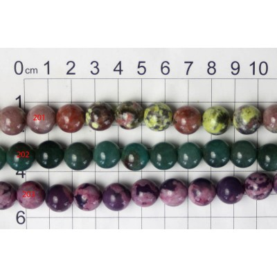 12mm Round Beads Strands 201 - 203