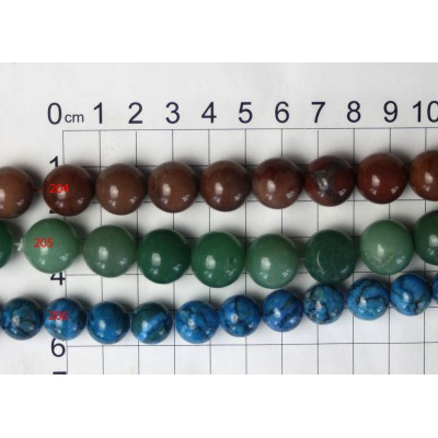 12-15mm Round Beads Strands 204 - 206