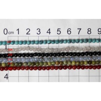 4mm Round Beads Strands 207 - 212