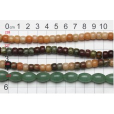 Gemstone Shaped Beads Strands 225 - 228