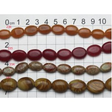 Oval Gemstone Bead Strands 233 - 236
