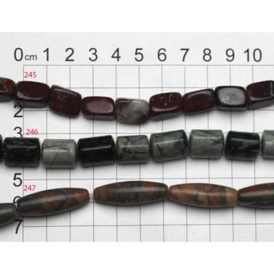 Gemstone Shaped Beads Strand 245 - 247