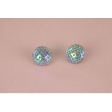 Vintage Glass Iridescent Purple Button