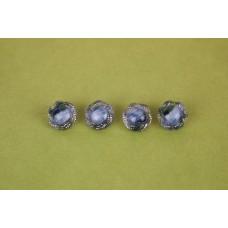 Vintage Glass Multi-colored Button