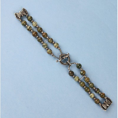 Sterling Silver Ryolite Watch Band
