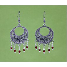 Boho Earrings in Red