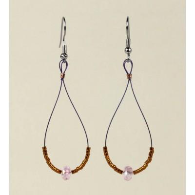 Crystal Teardrop earring in Pink