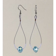 Crystal Teardrop earring in Blue