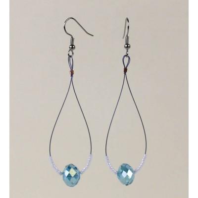 Crystal Teardrop earring in Blue