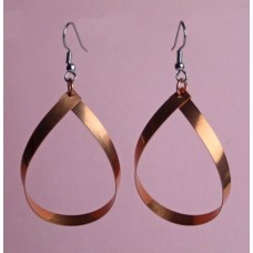 Copper Teardrop Dangle Earrings Small