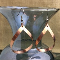 Copper Teardrop Earrings Large