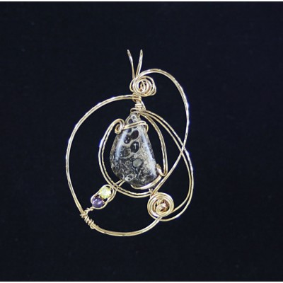14 kt Gold Filled Turritella Agate Necklace