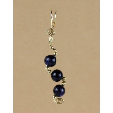 Blue Goldstone Asymmetrical pendant