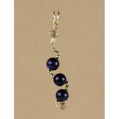 Blue Goldstone Asymmetrical pendant