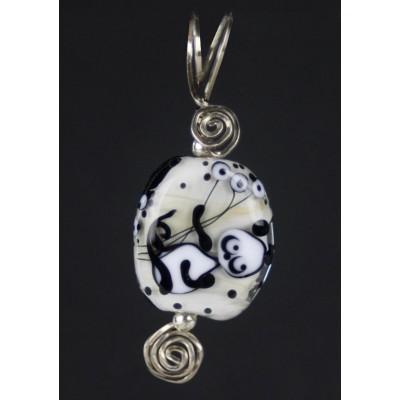 Sterling Silver Panda Bear Pendant