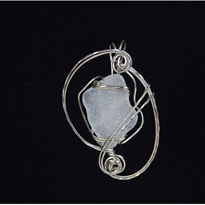 Sterling Silver Beach Glass Pendant